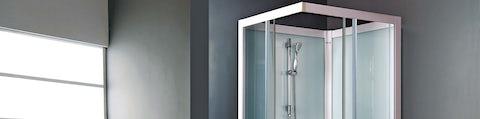 Smarte brusekabiner og brusevægge i glas til badeværelset