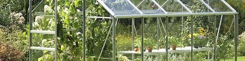 Forskellige drivhuse til haven