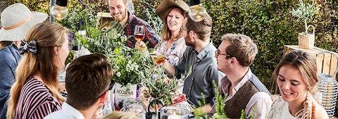 Hold havefest med venner og familie