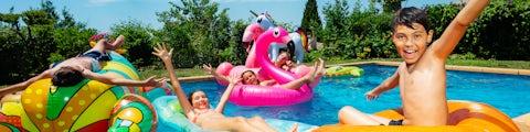 Find et stort udvalg af pools, badebassiner og andet vandleg på BR.dk