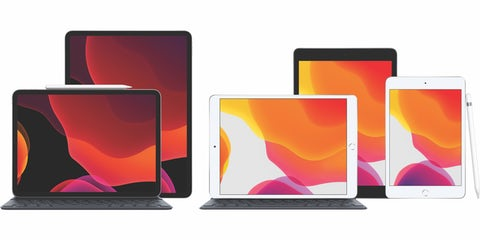 Stort udvalg af forskellige iPads